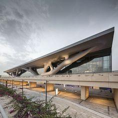 磯崎 新による、カタール国立コンベンションセンター