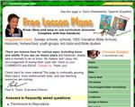 Free creation-based lessons, video clips, coloring pages, games, mazes, etc...