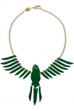 Tatty Devine parakeet necklace - medium