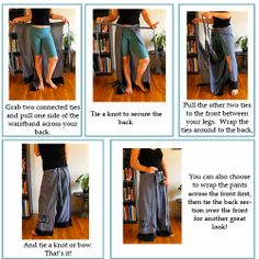 Easy Breezy Wrap Pants Tutorial. I made these and can't wait to make more. I think my go-to summer outfit will be these paired with a swim suit top.