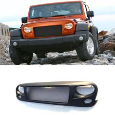 96.68$  Buy here - http://alijzj.worldwells.pw/go.php?t=32536330480 - Avenger style ABS front grill grille for Jeep Wrangler 2007-2015