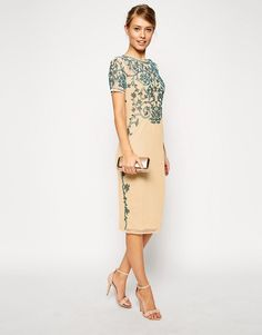 Image 4 of ASOS Baroque Embellished Midi Shift Dress
