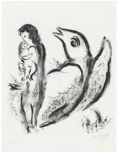 Mother and child - Marc Chagall