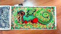 Dragon Enchanted Forest. Dragão Floresta Encantada. Johanna Basford