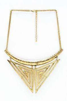 Aztec Goddess Collar Necklace