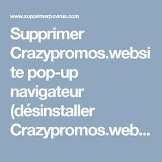 Supprimer Crazypromos.website pop-up navigateur (désinstaller Crazypromos.website pop-up)