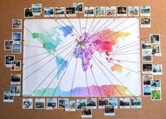 Wall travel map diy with polaroid photos diy in 2019 map wall. Guest Bedroom Office, Guest Room, Pretty Blue Eyes, Polaroid Photos, Behance, Happy Puppy, Children Images, Diy Photo, Photo Ideas