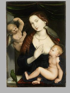 Madonna with child and parrots, Hans Baldung Grien, paint on panel, 1533. Germanisches Nationalmuseum accession no. Gm1170