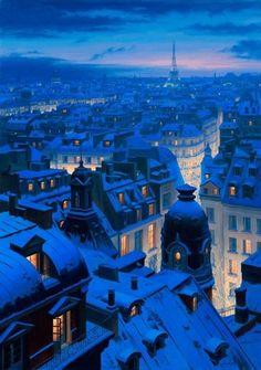 Winter or Summer, Paris, France is always romantic #travel http://maupintour.com/tour/london-paris-chunnel