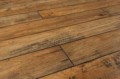 BuildDirect – Laminate - 12mm Handscraped Muskoka Collection – Bala Tan - Angle View
