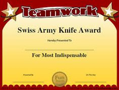 Image result for funny office awards printable