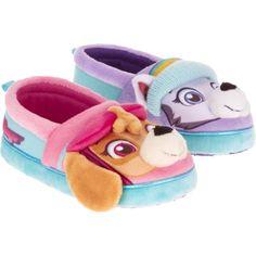 Kids Size 2 Girls Pink Removable Fluffy Slipper Skye Paw Patrol Clog Shoes