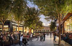 4 Dicas importantes para projetar ruas para as pessoas (e não apenas para os carros),Perkins+Will's proposed plan for Mission Rock in San Francisco. Image © Steelblue/Perkins+Will/San Francisco Giants