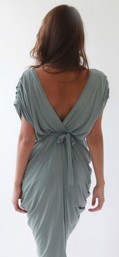 Mint Open Back Pleated Dress  ♥ Love the dress, not so impressed by the color.....