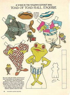 Mostly Paper Dolls: A Wind In The Willows Cut-Out Doll