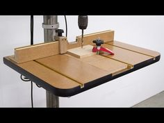Drill Press Table and Fence: 20 Steps (with Pictures)