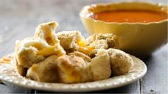 Grilled cheese is taken to a delicious new level via dipping-worthy bites. It's the ultimate comfort food throwback.