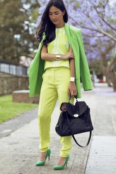 head to toe neon  via marshamcgowan...wow