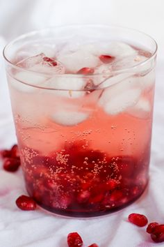 Rosé wine Spritzers with Pomegranate | Simply Delicious