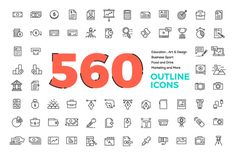 560 Modern Line icons Pack --- Features - Customize Line Weight with Illustrator - File formats including ( .ai / .eps ) - Icons Look Good in any size - Unique Icons design Category -