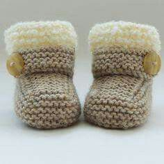 Strickanleitung Baby Booties Handgestrickte Baby Booties-Schuhe € 2019 Category: Babyschuhe stricken This image has get Baby Knitting Patterns, Baby Booties Knitting Pattern, Baby Shoes Pattern, Knitted Booties, Crochet Baby Booties, Baby Patterns, Hand Knitting, Knitted Baby Socks, Shoe Pattern