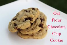 Oat Flour Chocolate Chip Cookies  THE BEST CHOCOLATE CHIP COOKIES EVER! these use one flour and are incredible! Add whatever mix-ins you would like. Oat flour is so much healthier than rice and starches. No gums. Easy one bowl prep. PERFECTION! Plus you can make it up and keep it uncooked for a week in the fridge, take a little as you want and bake fresh. They are even better a day or two after you bake making them the only glutten free cookie that doesn't go stale quickly!