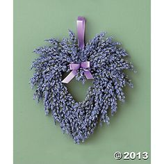 Valentine Day Wreaths, Valentines Day Decorations, Paper Lanterns Party, Lavender Wreath, Pink Hydrangea, Lilac, Hanging Hearts, Crafty Craft, How To Make Wreaths