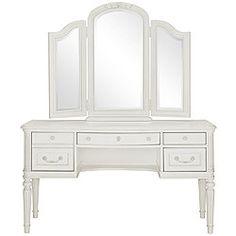 Olivia White Vanity & Mirror