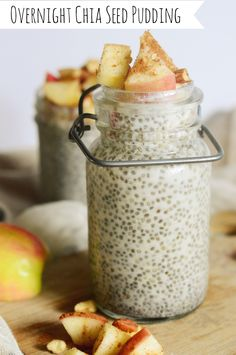 A healthy Overnight Chia Seed Pudding Recipe that's perfect for breakfast or an afternoon snack!