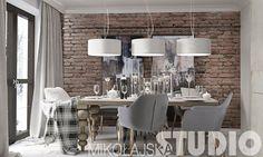 Projektowanie wnętrz jest naszą ogromną pasją, popartą zdobytą wiedzą oraz wieloletnim doświadczeniem.Stale doskonalimy swój warsztat i umiejętności, gromadząc od lat cenne doświadczenie. Dining Room, Dining Table, Living Room Inspiration, House In The Woods, Living Spaces, Chandelier, Loft, House Design, Ceiling Lights