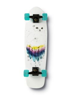 As if we haven't done enough with owls already.  More owls and this time on skateboards.  At least it's on the bottom so it doesn't look like you're stepping on it.