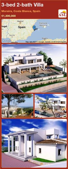 3-bed 2-bath Villa in Moraira, Costa Blanca, Spain ►€1,300,000 #PropertyForSaleInSpain