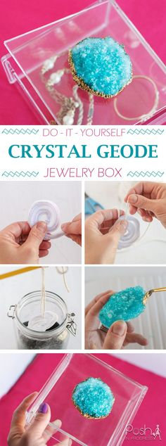 I am far from crafty, but yet, I made DIY crystal geode jewelry box! Check out this How-to.
