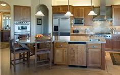 For you who want to have ideal kitchen design, here are kitchen pendant lighting ideas. Lighting will be very critical for every kitchen because as you Kitchen Island With Sink, Kitchen Island Decor, Kitchen Island Lighting, Kitchen Pendant Lighting, Kitchen Pendants, Pendant Lights, Kitchen Box, Round Kitchen, Wooden Kitchen