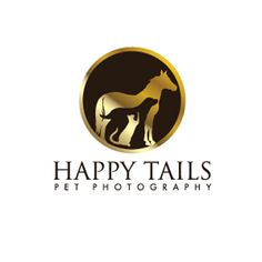 logo design for happy tails pet photography by thelogoboutique.com - dog - cat and horse