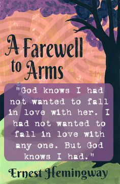a love story in the book a farewell to arms by ernest hemingway The complete short stories of ernest hemingway:  his body of work includes the novels a farewell to arms,  it is the story of love between an american ambulance.