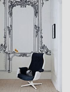 French By Design: Trend alert : customize your white walls! H E R M O S O !