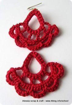 Scuola di uncinetto: tutorial orecchini crochet facili facili - #crochet #earring #tutorial