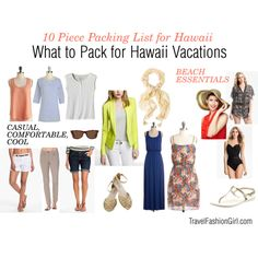 What to Pack for Hawaii by travelfashiongirl, via Polyvore