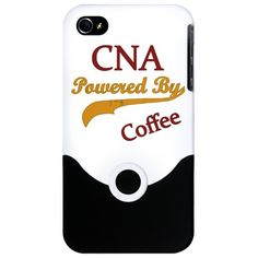 CNA powered by coffee - certified nursing assistant iPhone 4 Slider Case