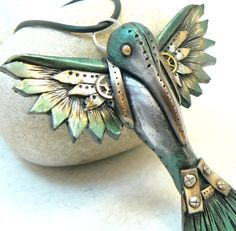 beautiful steampunk hummingbird