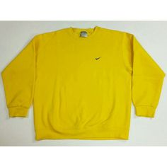 babd2f9c10 Check out this Vintage 90's Yellow Nike Crewneck Sweatshirt. Size: Large.  Swing by