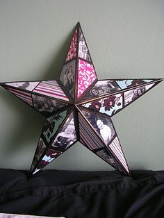 DIY photo star, awesome Christmas Gift Idea!!