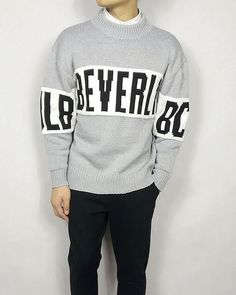 LETTERS FIGURED LOOSE STYLE WARM SWEATER W8072 $51.00