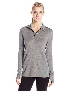 Pendleton Womens Ladies Baselayer Mock Neck Zip Top Warm Heather Small ** More info could be found at the image url.