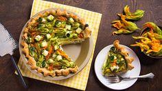 Squash Blossom Ricotta Pie