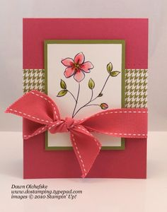 Stampin' Up Card Flower Fancy