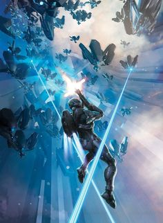 Cover illustration I did for Dark Horse comic's Halo: Escalation series. Darkhorse Comics, Halo Game, Halo 5, Halo Engagement Rings, Halo Rings, Odst Halo, Science Fiction, Halo Series, Halo Reach