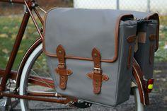 Gray Bike Saddlebags