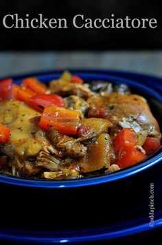 Slow Cooker Chicken Cacciatore with Kraft Recipe Makers by Add a Pinch